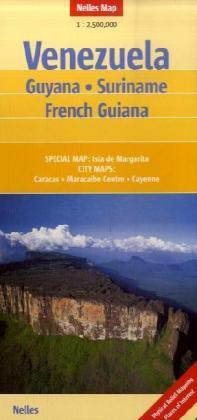 Venezuela | wegenkaart - overzichtskaart 1:2.500.000 9783865740786  Nelles Nelles Maps  Landkaarten en wegenkaarten Venezuela, Isla Margarita