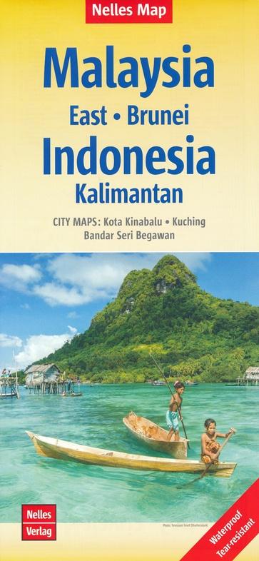 Malaysia east, Brunei | wegenkaart - overzichtskaart 1:1.500.000 9783865742827  Nelles Nelles Maps  Landkaarten en wegenkaarten Maleisië en Brunei