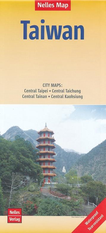 Taiwan | wegenkaart - overzichtskaart 1:400.000 9783865744500  Nelles Nelles Maps  Landkaarten en wegenkaarten Taiwan