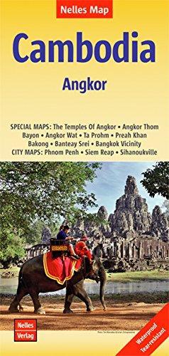 Cambodia, Angkor | wegenkaart - overzichtskaart 9783865744814  Nelles Nelles Maps  Landkaarten en wegenkaarten Cambodja