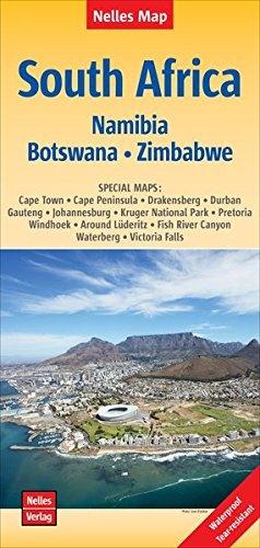 South Africa (Southern Africa) , Zuidelijk Afrika | wegenkaart - overzichtskaart 1:2.500.000 9783865745040  Nelles Nelles Maps  Landkaarten en wegenkaarten Zuidelijk-Afrika