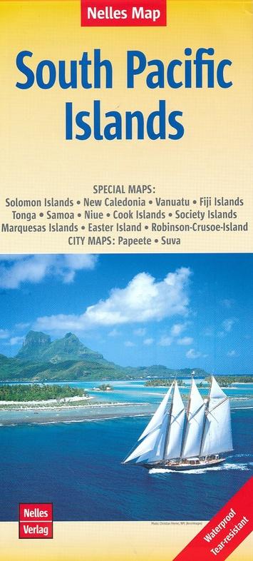 South Pacific Islands   wegenkaart - overzichtskaart 9783865746184  Nelles Nelles Maps  Landkaarten en wegenkaarten Pacifische Oceaan (Pacific)