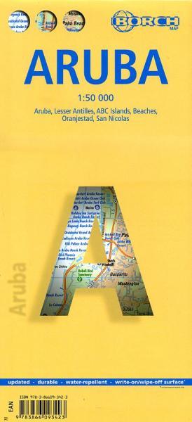 Aruba 1:50.000 9783866093423  Berndtson / Borch   Landkaarten en wegenkaarten Aruba, Bonaire, Curaçao