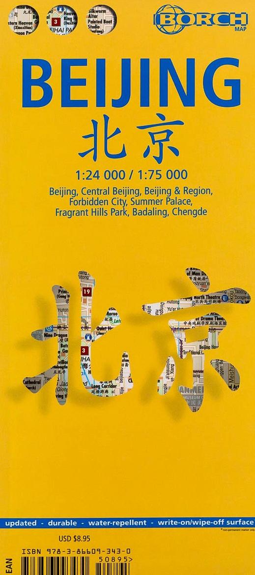 Beijing 1:24.000 / 1:75.000 | stadsplattegrond 9783866093430  Berndtson / Borch   Stadsplattegronden China (Tibet: zie Himalaya)