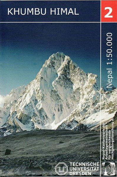 NK-02  Khumbu Himal 1:50.000 9783867803335  Nelles/Nepal Kartenwerk Wandelkaarten Nepal  Wandelkaarten Nepal