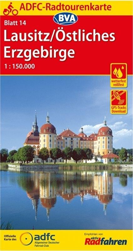 ADFC-14 Lausitz/Östl.Erzgebirge | fietskaart 1:150.000 9783870737221  ADFC / BVA Radtourenkarten 1:150.000  Fietskaarten Erzgebirge, Elbsandsteingebirge, Lausitz