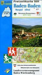 F501  Baden-Baden 9783890215945  LVA BW Baden-W. 1:50.000  Wandelkaarten Bodenmeer, Schwäbische Alb