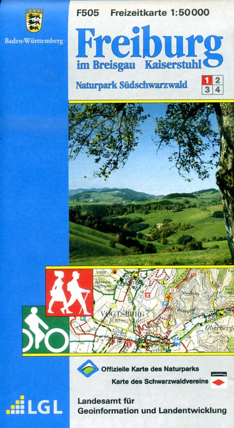 F505 (1) Freiburg im Breisgau 9783890215983  LVA BW Baden-W. 1:50.000  Wandelkaarten Zwarte Woud