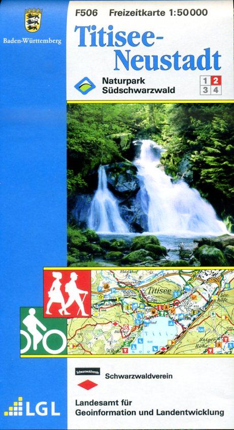 F506 (2) Titisee - Neustadt 1:50.000 9783890215990  LVA BW Baden-W. 1:50.000  Wandelkaarten Zwarte Woud