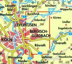 NRW-03 Bergisch Gladbach/Odenth.,Königsforst   wandelkaart 1:25.000 9783894396442  Geomap / LVA NRW Grüne Reihe  Wandelkaarten Düsseldorf, Wuppertal & Bergisches Land