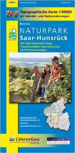 Naturpark Saar-Hunsrück 1:50.000 Blatt Ost 9783896373717  LVA Rheinland-Pfalz SK 50 W 1:50.000  Wandelkaarten Saarland, Hunsrück