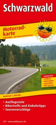 Schwarzwald 1:200.000 9783899202977  Publicpress Motorradkarten - mit der Sonne  Landkaarten en wegenkaarten, Motorsport Zwarte Woud