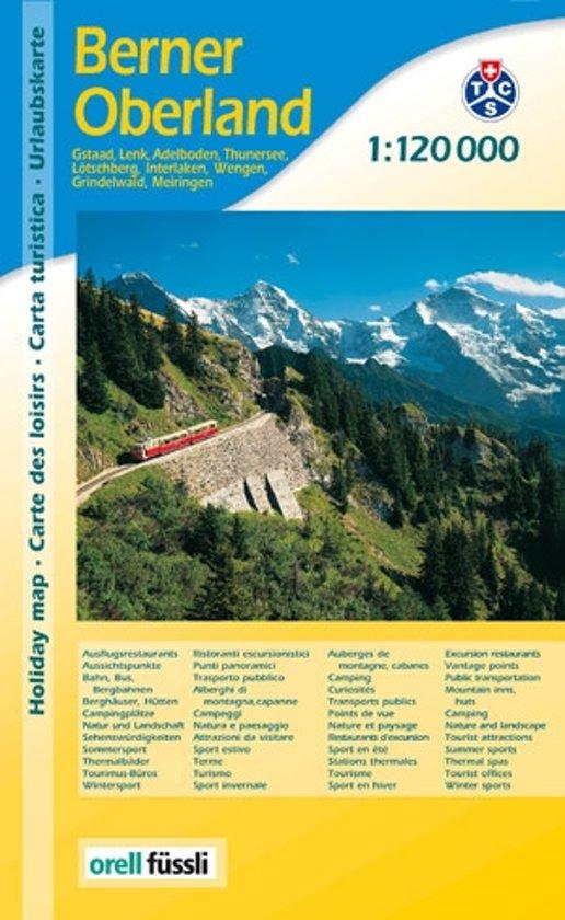 Berner Oberland 1:120.000 9783905706949  MPA   Landkaarten en wegenkaarten Berner Oberland, Basel, Jura, Genève