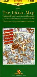 The Lhasa Map 9783906593098  Gecko Maps City map 1:4000  Stadsplattegronden Tibet