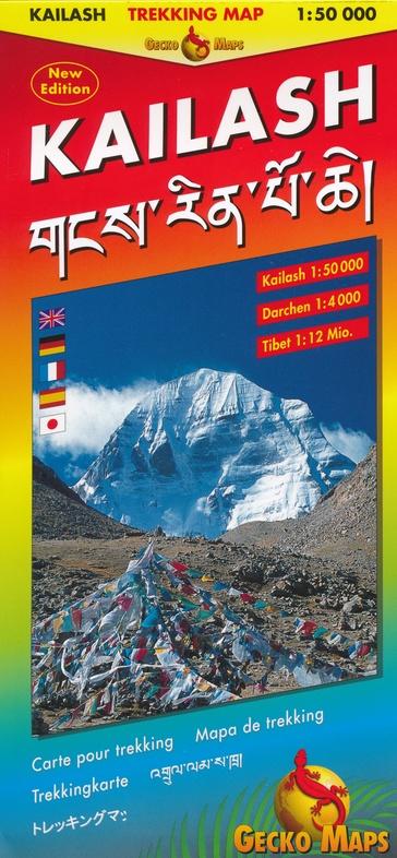 Kailash 1:50.000 9783906593173  Gecko Maps Wandelkaarten Tibet  Wandelkaarten Tibet