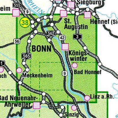 EV-38  Drachenfelser Ländchen | wandelkaart 1:25.000 9783921805664  Eifelverein Wandelkaarten Eifel  Wandelkaarten Aken, Keulen en Bonn