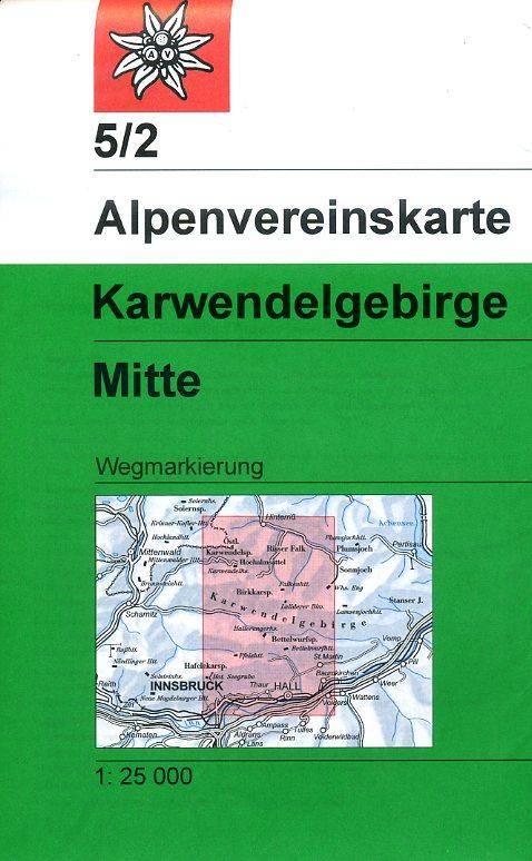 AV-05/2 Karwendel Mitte [2015] Alpenvereinskarte wandelkaart 9783928777216  AlpenVerein Alpenvereinskarten  Wandelkaarten Tirol & Vorarlberg