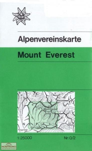 AV-0/02 Mt. Everest - Chomolongma [1988] wandelkaart 9783928777285  AlpenVerein Wandelkaarten Nepal  Wandelkaarten Nepal