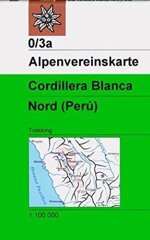 AV-0/03a  Cordillera Blanca Nord [2006] Alpenvereinskarte wandelkaart 9783928777575  AlpenVerein Alpenvereinskarten  Wandelkaarten Peru