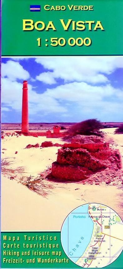 Boa Vista 1:50.000 wandelkaart 9783934262218  AB Karten Verlag   Wandelkaarten Kaapverdische Eilanden