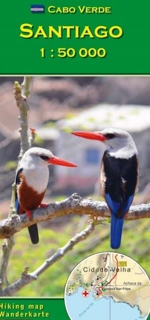 Santiago / Cabo Verde 1:50.000 wandelkaart 9783934262225  AB Karten Verlag   Wandelkaarten Kaapverdische Eilanden