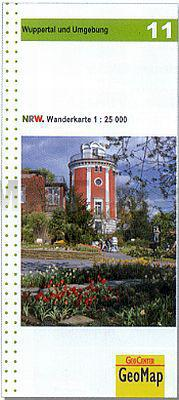 NRW-11 Wuppertal und Umgebung   wandelkaart 1:25.000 9783936184785  Geomap / LVA NRW Grüne Reihe  Wandelkaarten Düsseldorf, Wuppertal & Bergisches Land