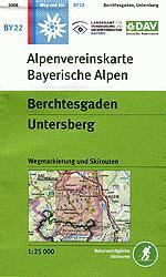 BY-22 Berchtesgaden, Untersberg 1:25.000 Alpenvereinskarte 9783937530260  Deutscher AlpenVerein Alpenvereinskarten  Wandelkaarten Beierse Alpen
