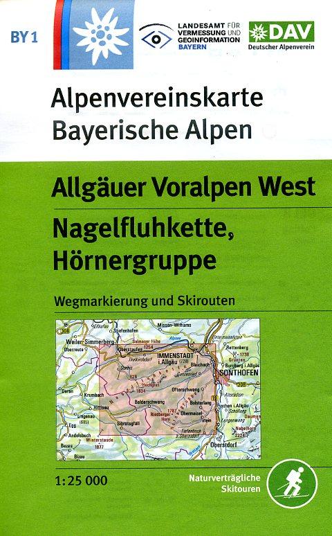 BY-01  Algäuer Voralpen West   Alpenvereinskaart 9783937530413  Deutscher AlpenVerein Alpenvereinskarten  Wandelkaarten Beierse Alpen