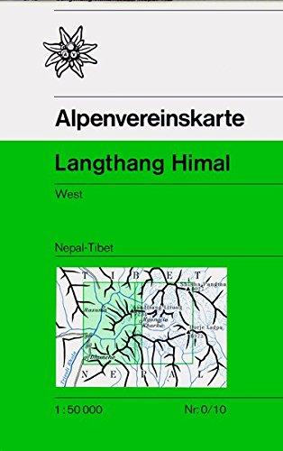 AV-0/11  Langthang Himal Ost 1:50.000 [1990] wandelkaart 9783937530680  AlpenVerein Wandelkaarten Nepal  Wandelkaarten Nepal