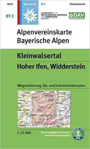 BY-02 Kleinwalsertal, Hoher Ifen, Wilderstein 1:25.000 Alpenvereinskarte 9783937530727  Deutscher AlpenVerein Alpenvereinskarten  Wandelkaarten, Wintersport Beierse Alpen