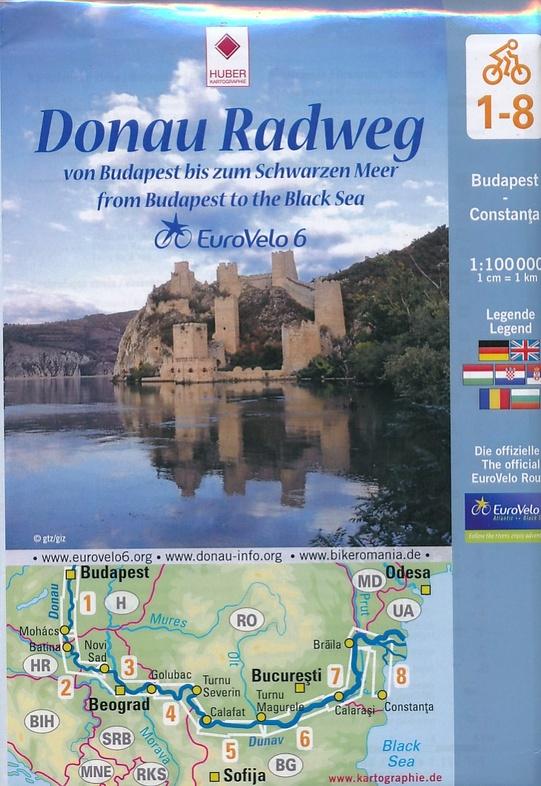 Donau Radweg (set fietskaarten 1:100.000) 9783943752175  Huber Verlag   Fietskaarten Balkan
