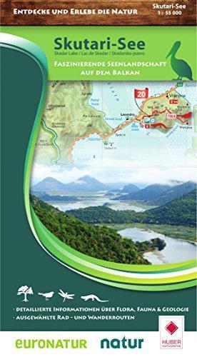 Shkodërmeer natuur- wandel- & fietskaart 1:55.000 9783943752304  Huber Verlag   Wandelkaarten Balkan