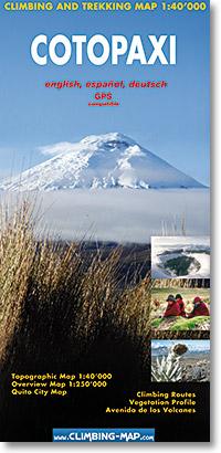 Cotopaxi 1:40.000 9783952329429 Sandra Greulich, Sacha Wettstein Climbing-Map   Wandelkaarten Ecuador, Galapagos