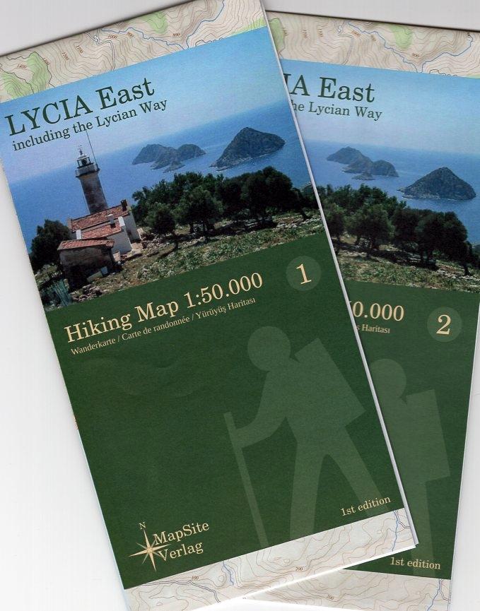Lycia East (Lycische Kust - oost) 1:50.000 9783981721607  MapSite Verlag   Meerdaagse wandelroutes, Wandelkaarten Turkse Riviera, overig Turkije