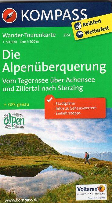 KP-2556 Alpenüberquerung 1:50.000 9783990440261  Kompass Wandelkaarten   Lopen naar Rome, Wandelkaarten Zwitserland en Oostenrijk (en Alpen als geheel)