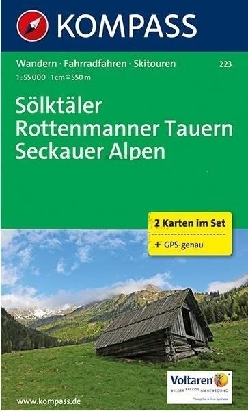 KP-223   Sölktäler - Rottenmanner Tauern - Seckauer Alpen 1:50.000   Kompass wandelkaart 9783990442388  Kompass Wandelkaarten Kompass Oostenrijk  Wandelkaarten Salzburg, Karinthië, Tauern, Stiermarken