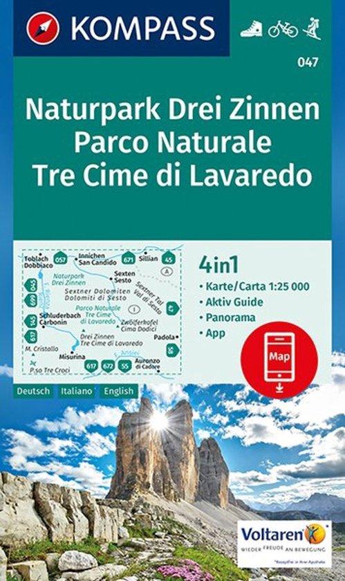 KP-047 Drei Zinnen / Tre Cime di Lavaredo | Kompass wandelkaart 9783990442753  Kompass Wandelkaarten Kompass Italië  Wandelkaarten Zuidtirol, Dolomieten, Friuli, Venetië, Emilia-Romagna