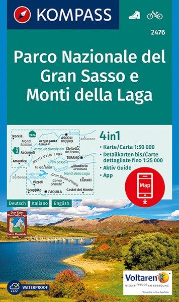 KP-2476  Gran Sasso d Italia 1:50.000 | Kompass wandelkaart 9783990443217  Kompass Wandelkaarten Kompass Italië  Wandelkaarten Rome, Abruzzen