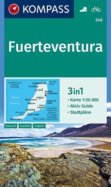KP-240 Fuerteventura 1:50.000 | Kompass wandelkaart 9783990443248  Kompass Wandelkaarten   Landkaarten en wegenkaarten, Wandelkaarten Fuerteventura