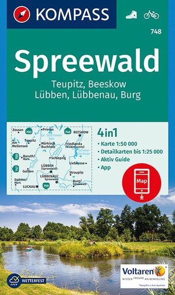 KP-748 Spreewald 1:50.000 9783990443286  Kompass Wandelkaarten Kompass Duitsland  Wandelkaarten Brandenburg