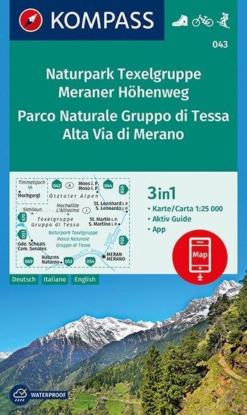 KP-043 Texelgruppe/Meraner Höhenweg | Kompass wandelkaart 9783990443941  Kompass Wandelkaarten Kompass Italië  Wandelkaarten Zuidtirol, Dolomieten, Friuli, Venetië, Emilia-Romagna