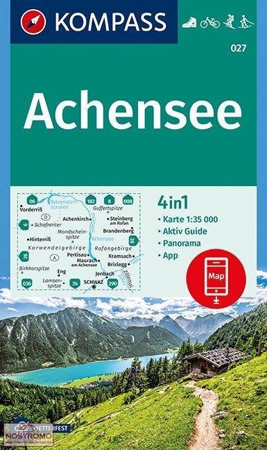 KP-027 Achensee | Kompass wandelkaart 9783990444597  Kompass Wandelkaarten Kompass Oostenrijk  Wandelkaarten Tirol & Vorarlberg