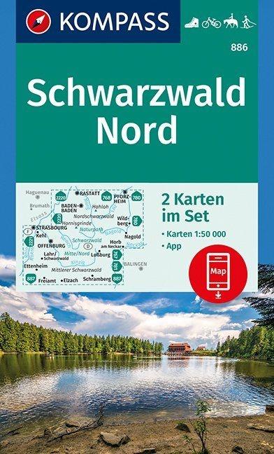 KP-886 Schwarzwald Nord   Kompass wandelkaart 1:50.000 9783990444801  Kompass Wandelkaarten Kompass Duitsland  Wandelkaarten Zwarte Woud