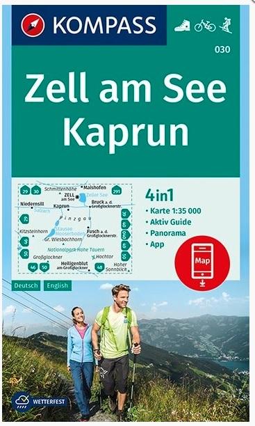 KP-030  Zell am See, Kaprun | Kompass wandelkaart 9783990445648  Kompass Wandelkaarten Kompass Oostenrijk  Wandelkaarten Salzburg, Karinthië, Tauern, Stiermarken