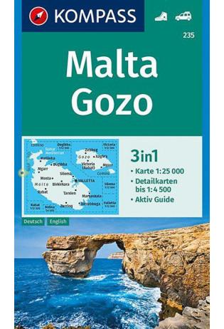 KP-235 Malta 1:25.000 | Kompass wandelkaart 9783990446416  Kompass Wandelkaarten   Wandelkaarten Malta