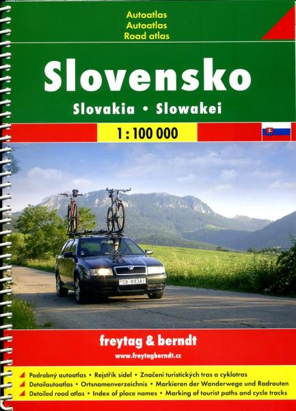 Slovensko - Turistický Autoatlas 1:100.000 9788072245758  SHOCart / Geoclub Wegenatlassen  Wegenatlassen Slowakije