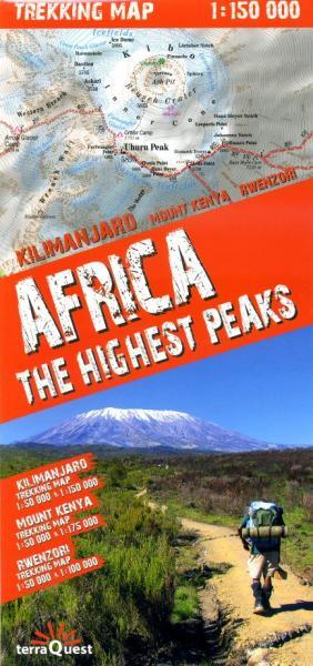 Africa - the Highest Peaks Trekking Map 9788361155287  TerraQuest   Wandelkaarten Oost-Afrika