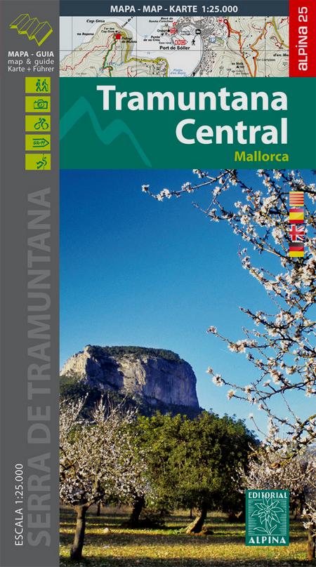 Tramuntana Central (Mallorca) 1:25.000 9788480906647  Editorial Alpina Wandelkaarten Spanje  Wandelkaarten Mallorca
