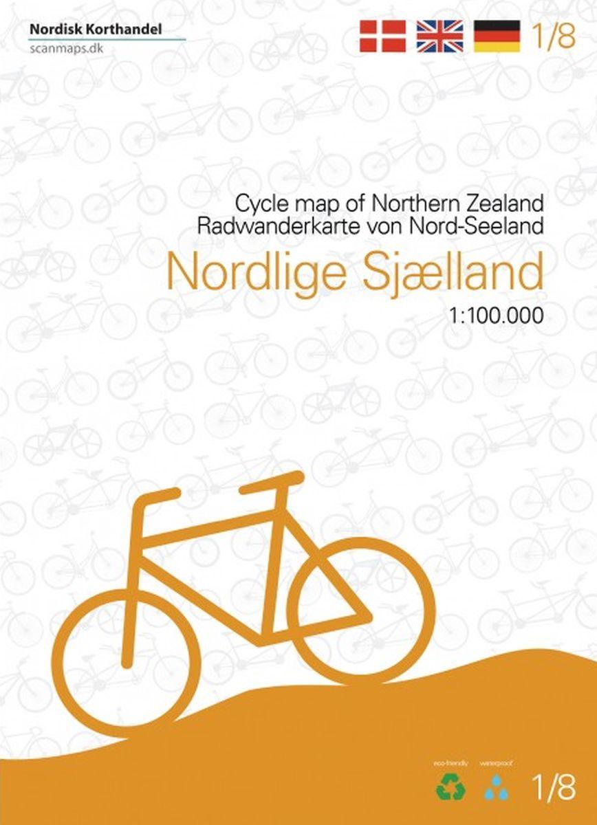 SM-1  Noord-Sjaelland fietskaart 1:100.000 9788779671164  Scanmaps fietskaarten Denemarken  Fietskaarten Denemarken