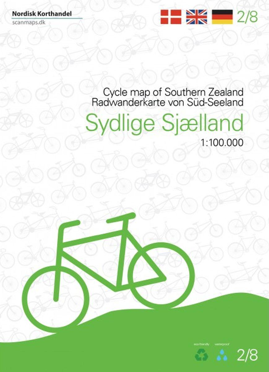 SM-2  Zuid-Sjaelland fietskaart 1:100.000 9788779671171  Scanmaps fietskaarten Denemarken  Fietskaarten Denemarken